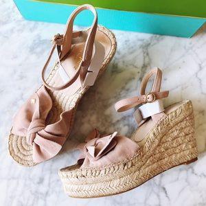 Kate Spade Fanni blush rose platform sandals 6